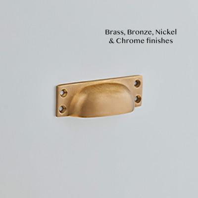 Cast Drawer Pull SMoked Brass
