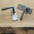 Pewter door lever