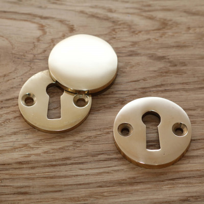 Traditional Round Brass Escutcheon