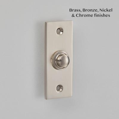 Rectangular Bell Push Pearl nickel