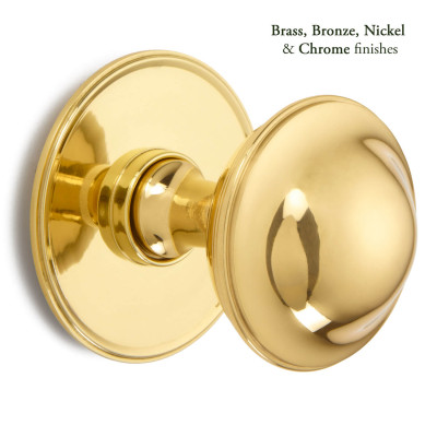 Plain Round Centre Door Knob