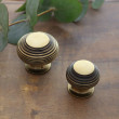 Brass beehive knobs