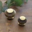 Brass beehive knobs