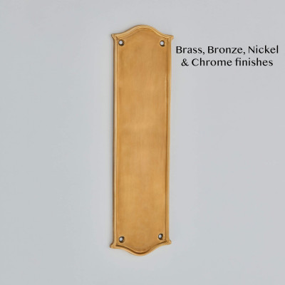 Ribbon Edge Cast Finger Plate Smoked Brass