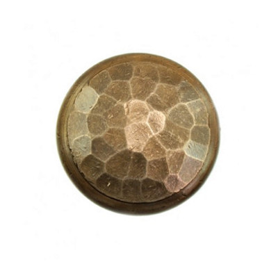 Hammered bronze knob