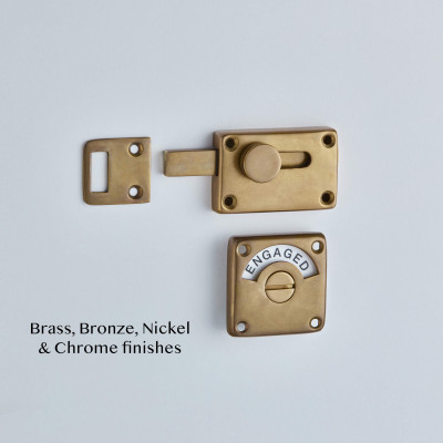 Indicator Bolt in Aged Brass