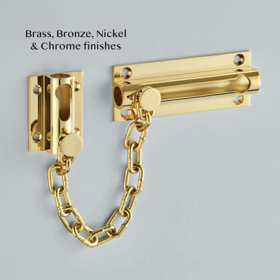Heavy Duty Door Chain Polished Brass Unlacquered