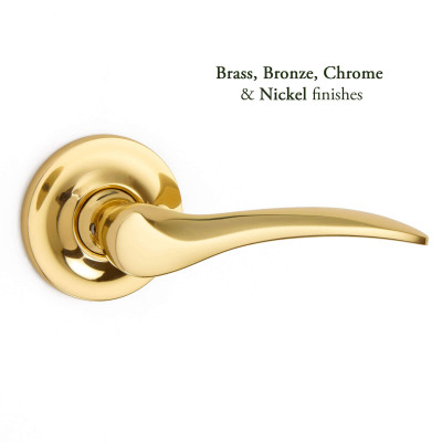 Codsall Lever Covered Rose handle