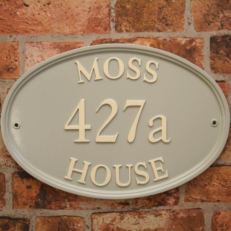 Large oval house signs
