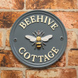 Traditional round house signs