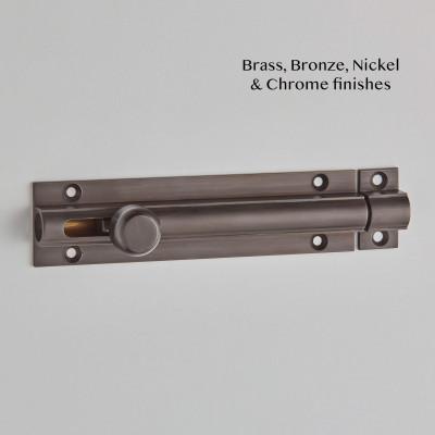 Knob Slide Action Bolt in Imitation Bronze Unlacquered