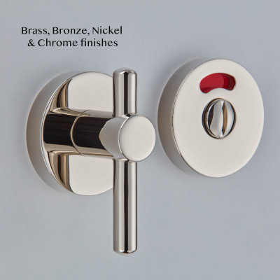 Disabled Thumb and Turn with Indicator in Polished Nickel