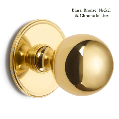 Ball Centre Door Knob Round Rose