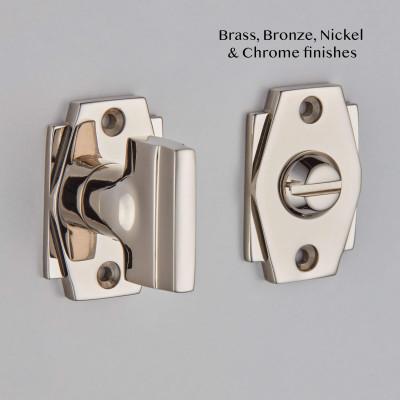 Art Deco Bathroom Turn and Release - Polished Nickel