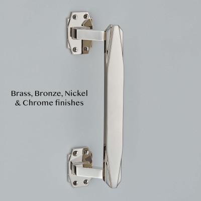 Art Deco Pull Handle Polished Nickel
