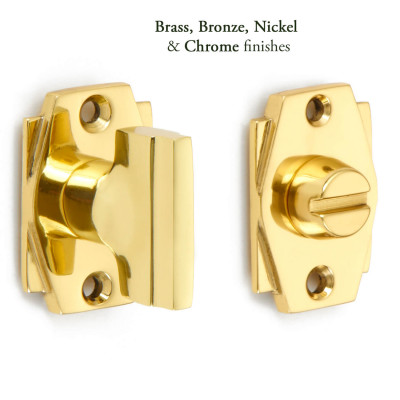 Art Deco Bathroom Door Lock