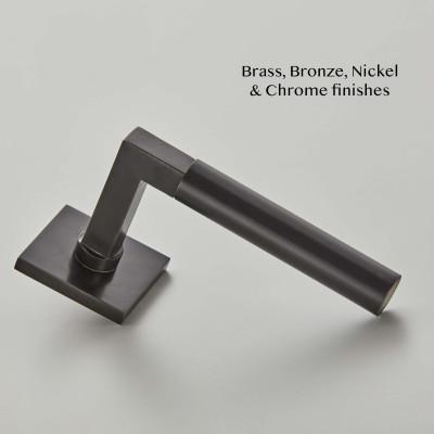Gropius Lever Handle in Dark Bronze Metal Antique