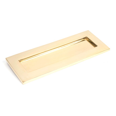 Period Brass Letter Plate Small