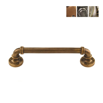 Bronze or Pewter Ribbed Pull Handle