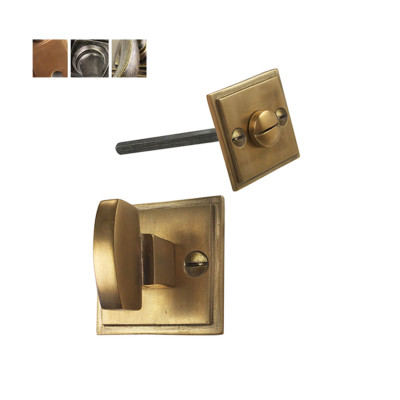 Square Bathroom Turn Lock