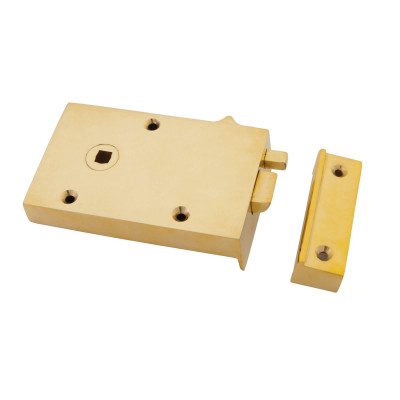 Brass Bathroom Rim Latch
