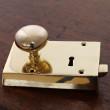 Small Brass Rim Door Lock