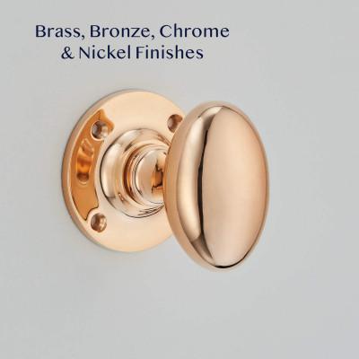 Polished Bronze Oval Door Knobs