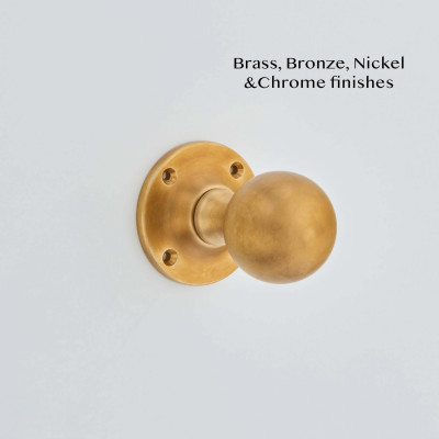 Ball Rim Knob Aged Brass