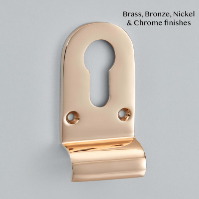 Euro Profile Cylinder Pull Polished Gunmetal Bronze Unlacquered