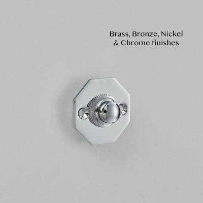 Octagonal Bell Push Chrome Plate