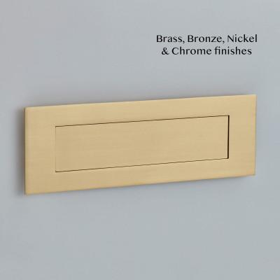 Flush Letter Plate Satin Brass