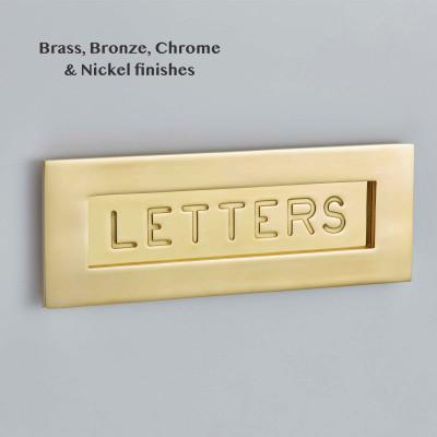 Engraved Brass Letter Plate