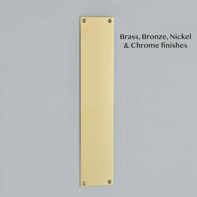Plain Finger Plate Polished Brass Unlacquered