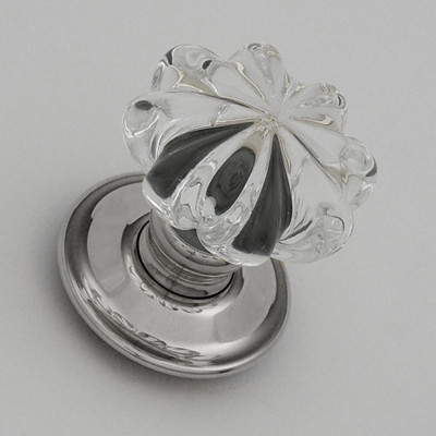Clear glass door knobs