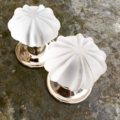 Frosted Handmade Glass Door Knobs