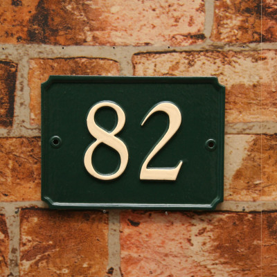 French Style House Number Sign