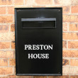 Black post box front